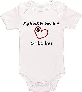 My Best Friend is A Shiba Inu Baby Bodysuit