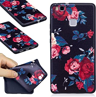 Huawei P9 Lite Case, FIREFISH Soft TPU Gel [Slim Fit] [Shock Absorption] Snap On Embossed Printing Silicone Bumper Rubber Skin Cover for Huawei P9 Lite (2016) -Flower