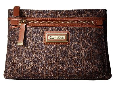 Calvin Klein Belfast Nylon Fanny Pack (Brown/Khaki) Handbags