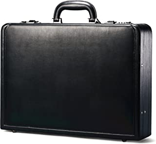Bonded Leather Attache, Black, One Size