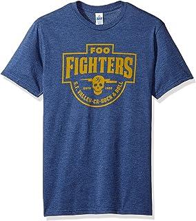 قميص رجالي من FEA عليه عبارة Foo Fighters S.F. تيشيرت رجالي فالي