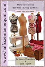 How to scale up half size sewing patterns