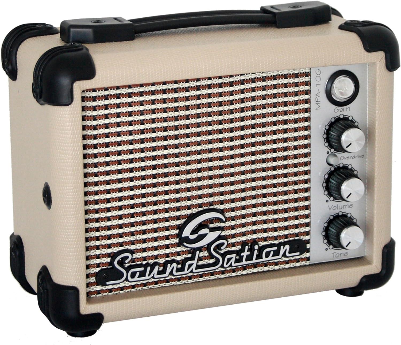 Soundsation–Mini amplificador portátil de 5W a batería y corriente para guitarra, cód. MPa 10g