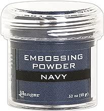 navy embossing powder
