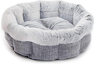 Best Pet Supplies Round Bed for Pet, Light Gray