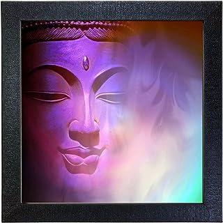 Sehaz Artworks 'Buddha' Wall Photo Painting (Carbon Fiber, 30 cm x 30 cm x 3 cm, Black SZA-Budha_005)