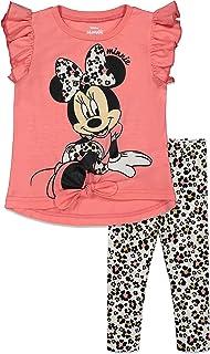 ست آستین کوتاه و شلوار ساق دار دخترانه Disney Minnie Mouse