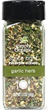 Simply Organic Spice Right Everyday Seasoning Blends, Garlic & Herb, 2 Ounce