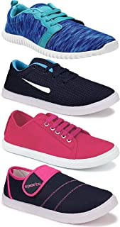 WORLD WEAR FOOTWEAR Women's (5041-5004-1162-5044) Multicolor Casual Sports Running Shoes (Set of 4 Pair)