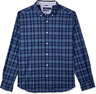 Nautica Men's LS WR Plaid Shirts Ensign