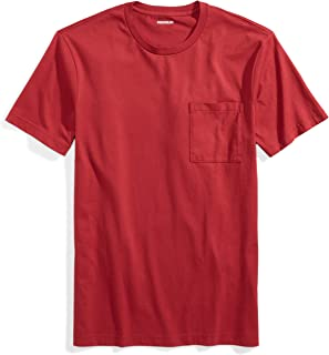 Amazon Brand - Goodthreads Men's Short-Sleeve Crewneck Cotton T-Shirt w/Pocket, Red, X-Large