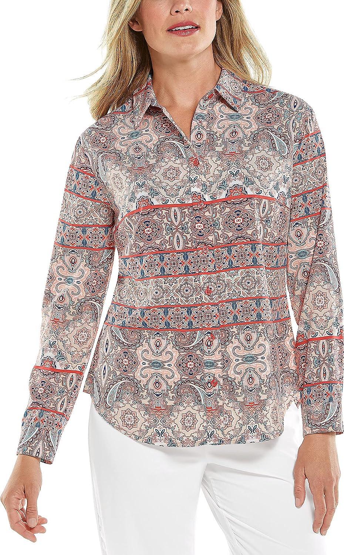 Coolibar UPF 50+ Women's Rhodes Sun Shirt 商品 人気 Protective -