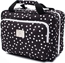 Large Polka Dot Travel Cosmetic Bag - Large Hanging Travel Toiletry And Cosmetic Organizer With Many Pockets (black polka dot)