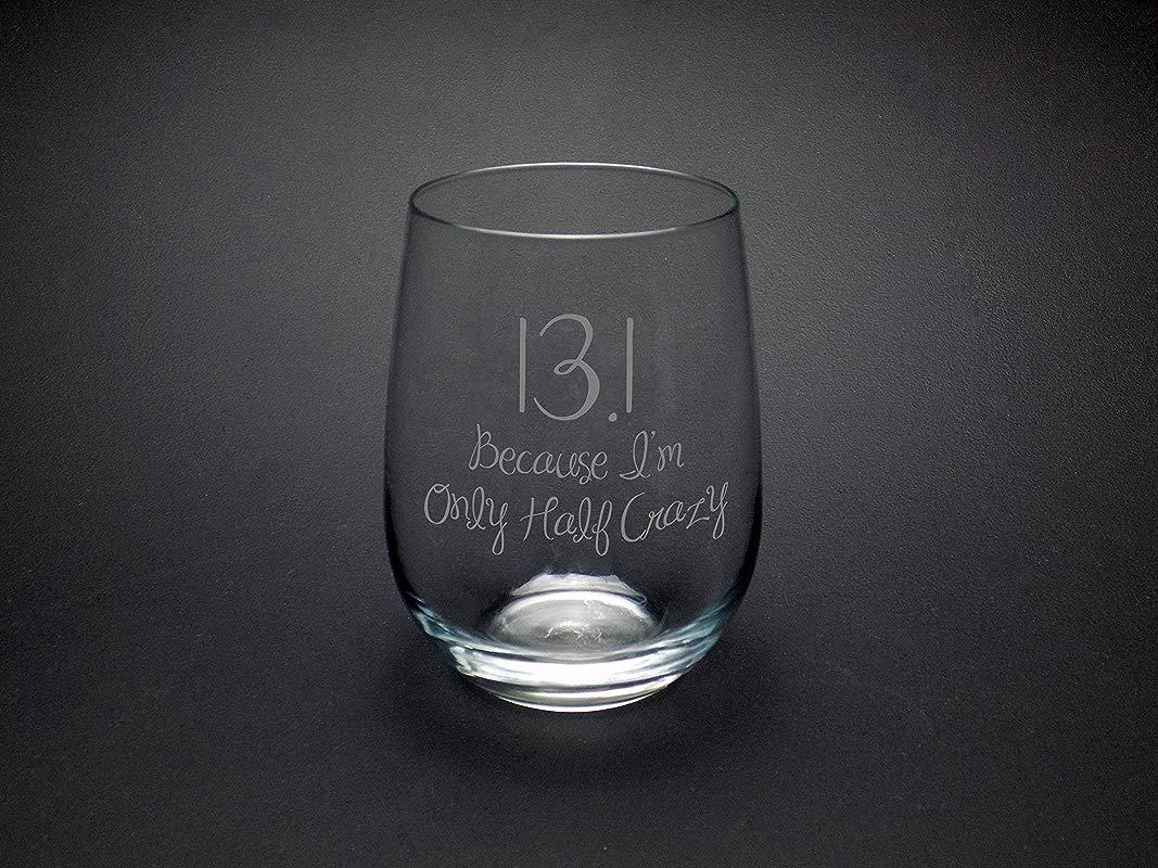 Half Marathon Wine Glass