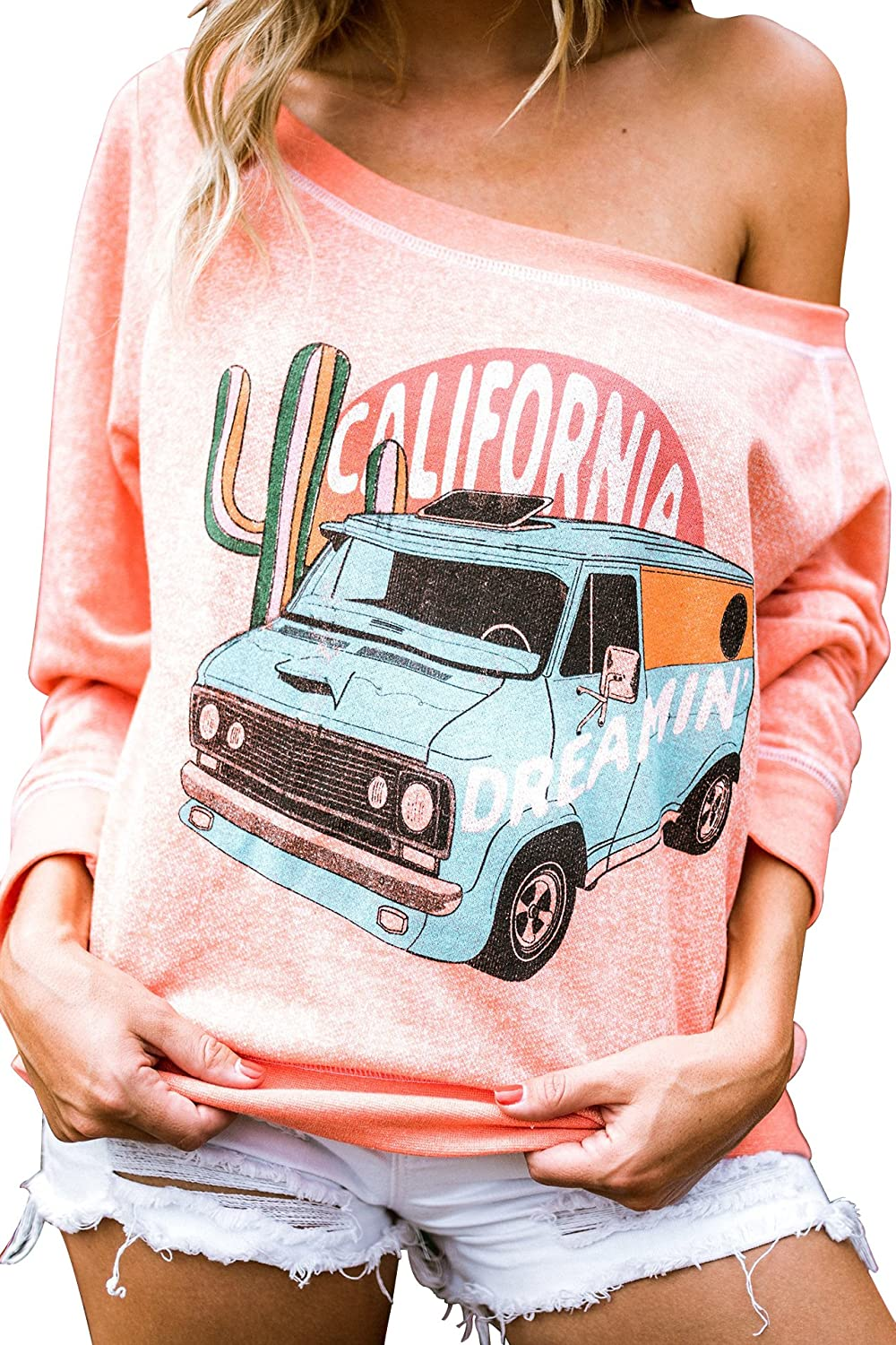 Life Clothing Co. Womens Cali Dreamin Heather Sweater