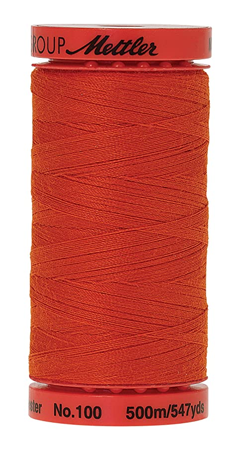 Mettler Metrosene Old Number 1145-0594 Poly Thread, 500m/547 yd, Paprika lyyj297857