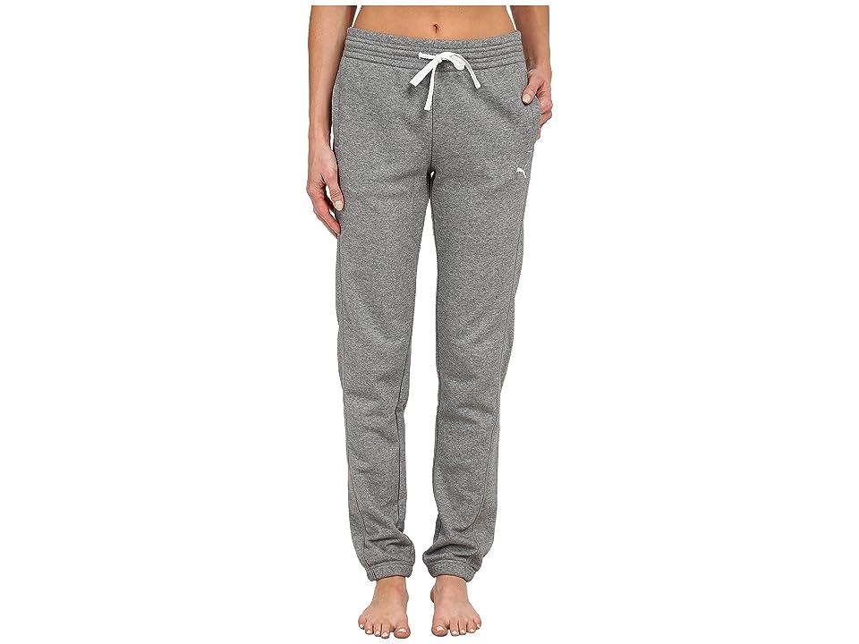 PUMA Sweat Pant (Medium Gray Heather/White) Women