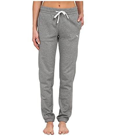 PUMA Sweat Pant (Medium Gray Heather/White) Women