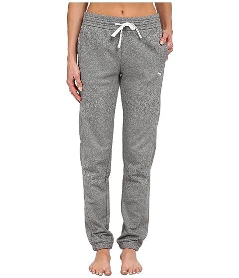 Medio jaspeado gris Blanco PUMA Pantalón de chándal 4wf0qxt8