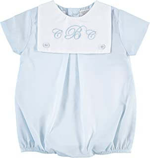 Carriage Boutique Baby Boy Romper Classic Monogrammable Blank