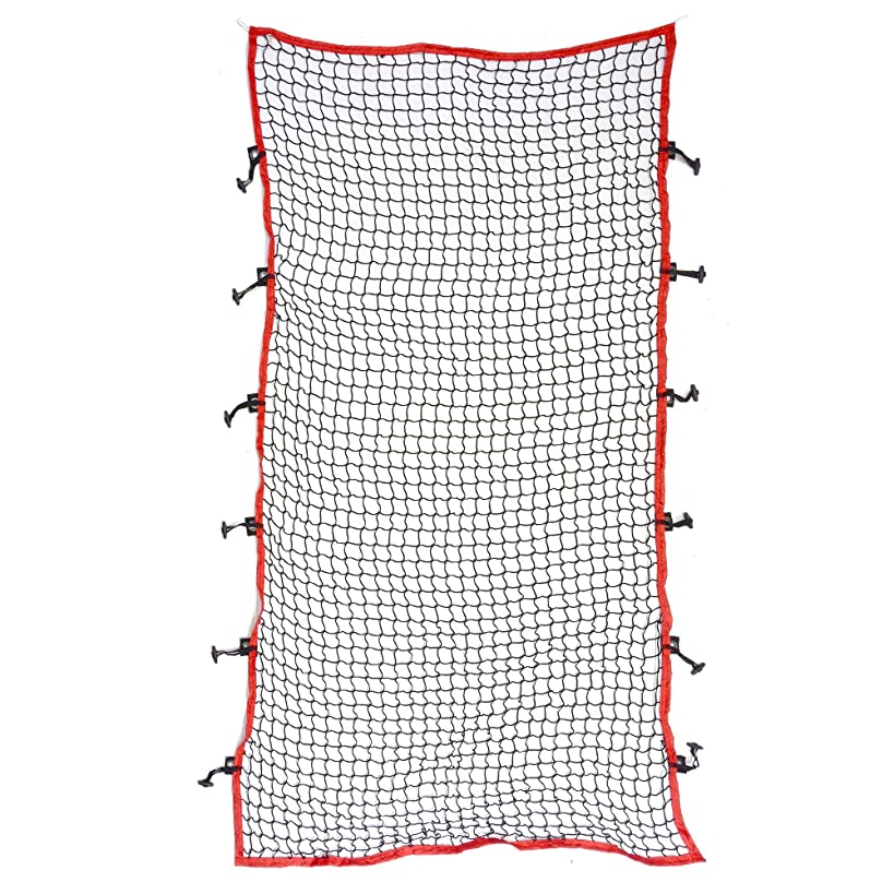 GoSports 7' x 4' I-Screen | Baseball & Softball Pitching Screen Net | Must Have for Safe Training - Includes Foldable Bow Frame and Portable Carry Bag