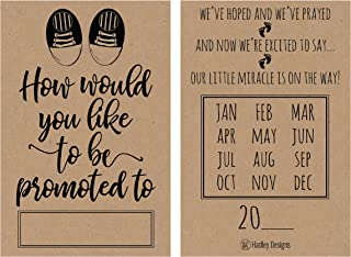 25 Rustic Pregnancy Announcement Card Set Were Expecting Baby Surprise Having Birth Reveal Only Best Friend Get Promoted T...