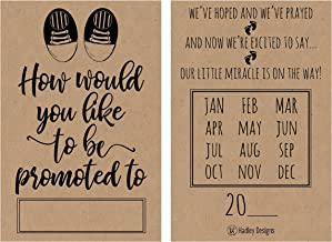 25 Rustic Pregnancy Announcement Card Set were Expecting Baby Surprise Having Birth Reveal Only Best Friend Get Promoted to Auntie Aunt Uncle Grandpa Grandma Grandparent Sister Brother Family Dad Mom
