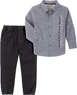 Calvin Klein boys 2 Pieces Shirt Pants Set