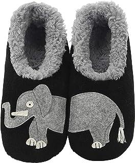 Snoozies Womens Classic Splitz Applique Slipper Socks | Womens House Slipper Socks