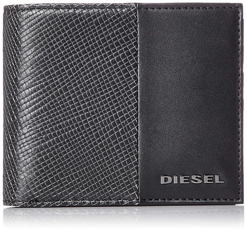 スキャンダルアクティブ拘束(ディーゼル) DIESEL メンズ ALLブラック テクスチャードMIX 折り財布 X06311P0598