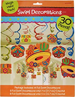 Cinco De Mayo Fiesta Foil Swirls Mega Value Pack | Party Decoration
