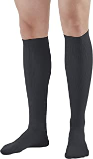 Ames Walker AW Style 100 Men's Dress 20 30mmHg Firm Knee High Socks Black MED