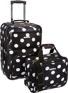 Fashion Softside Upright Luggage Set, Black Dot, 2-Piece (14/19)