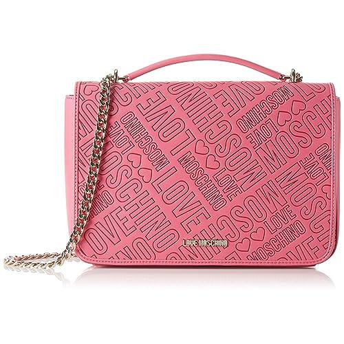 4de42e5f8f Love Moschino embossed shoulder bag pink