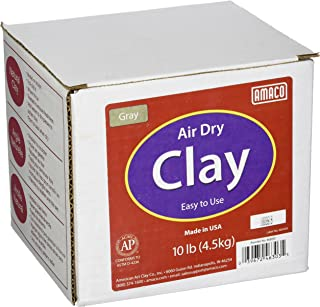 AMACO 4630-3C Air Dry Modeling Clay, 10-Pound, Gray
