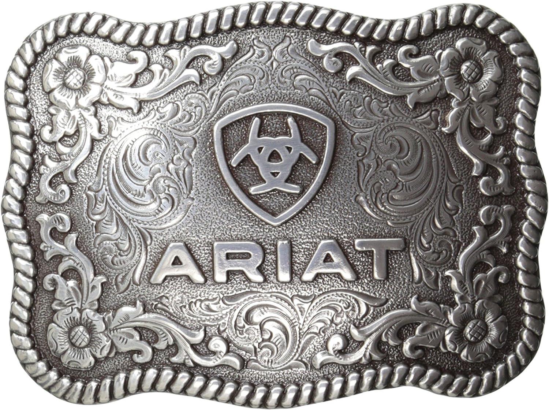 Ariat Men's Fashionable Scalloped Rectangular Buckle Filigree Baltimore Mall Belt