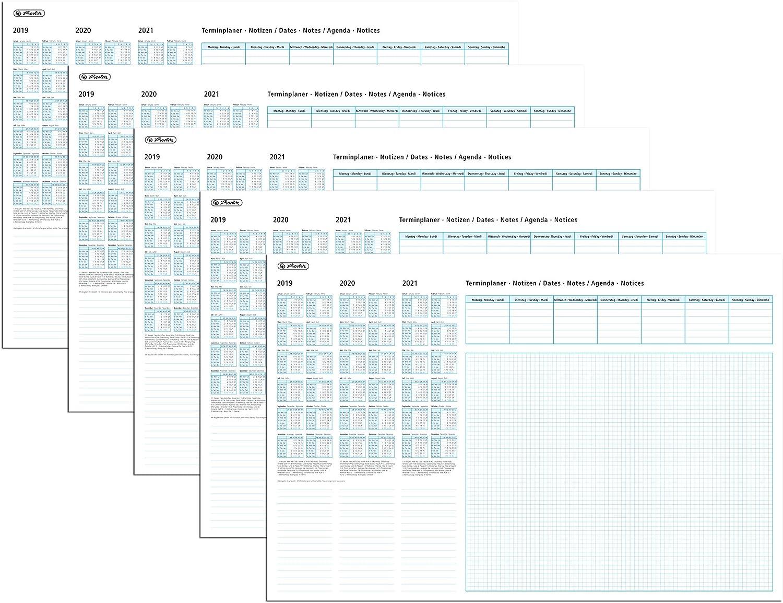Herlitz 10621498 Schreibunterlage Papier mit Kalendarium 19 20 21, 50 Blatt, 59x40cm (5 Stück) B07PCHFMJW   | Schönes Design