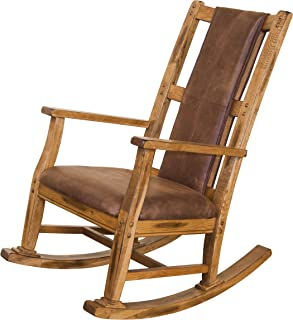 Sunny Designs 1935RO-2 Sedona Rocker with T-Fabric Seat and Back, Rustic Oak Finish