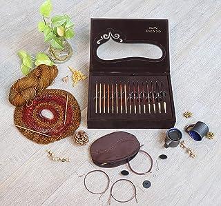 KnitPro Kit d'aiguilles à Tricoter circulaires interchangeables pour Noël Knit & Sip, 3,5-8 mm 60, 80, 100 cm
