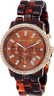 Michael Kors Womens Quartz Watch, Analog Display and Leather Strap MK5366