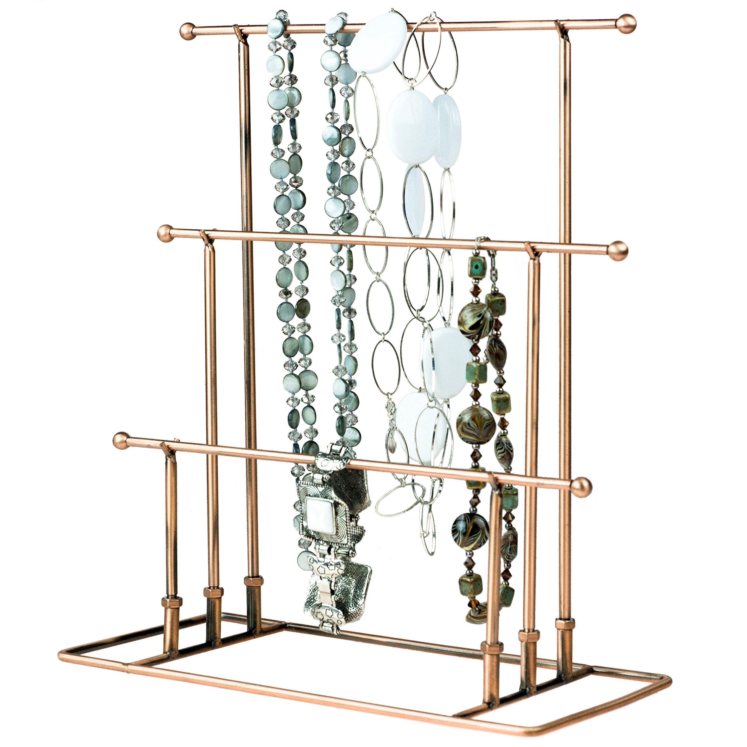 LANTWOO Metal Earring Organizer Jewelry Display Stand for Hanging Earrings Organize 56 Pairs Earrings