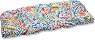Pillow Perfect Outdoor Ummi Wicker Loveseat Cushion, Multicolored