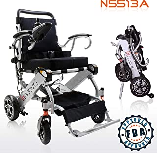 2019 UPGRADED Folding Electric Powered Wheelchair, Supports up to 265 lb, Weighs 50lb,
