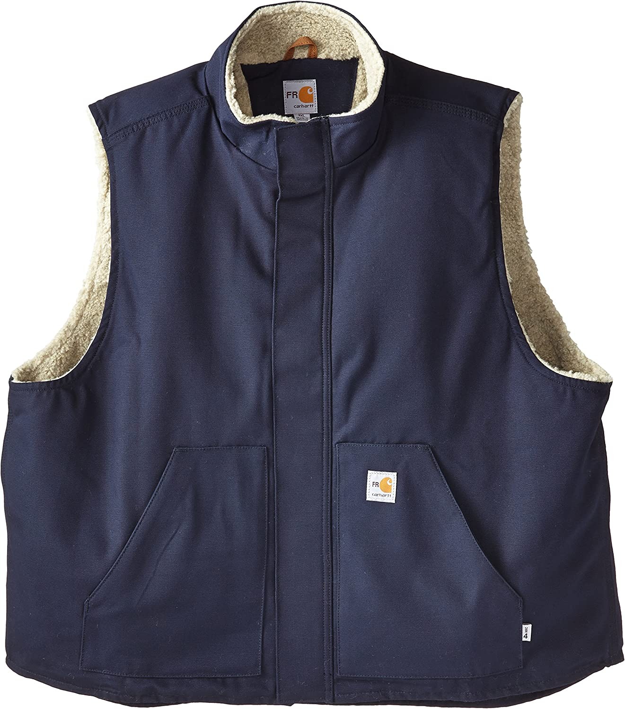 Carhartt Men's Big & Tall Flame Resistant Mock Neck Sherpa Lined Vest