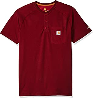 Carhartt Men's Force Delmont Short Sleeve Henley T-Shirt...