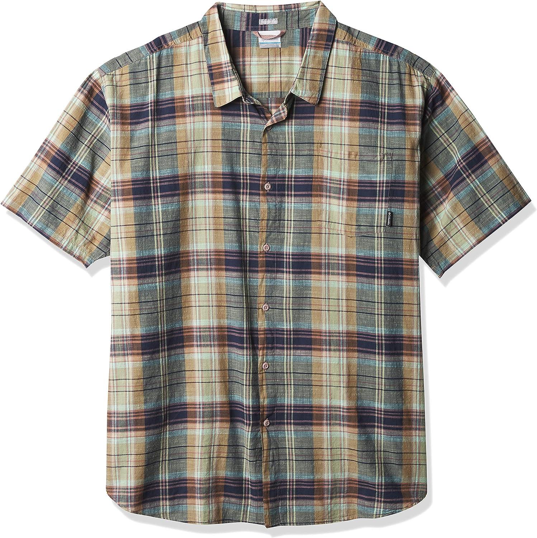 Columbia Men's Under Exposure Yarn Ultra-Cheap Deals Manufacturer direct delivery Dye Short Sleeve Shirt