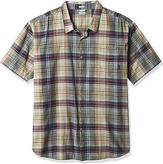 Columbia Men's Under Exposure Yarn Dye Short Sleeve Shirt Button
