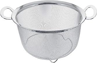 U.S. Kitchen Supply 3 Quart Stainless Steel Mesh Net Strainer Basket with a Wide Rim, Resting Feet and Handles - Colander ...