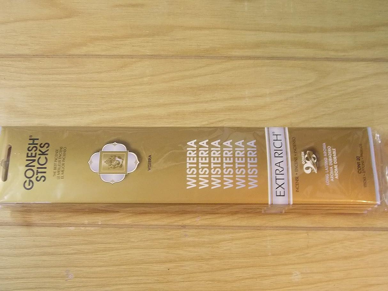 先のことを考えるセクションジャニスGonesh Incense Sticks Wisteria 2パックの20?Sticks
