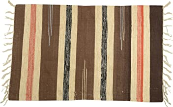 BLH Cotton Rug - 35.1 inches x 23.4 inches x 0.2 inches, Brown